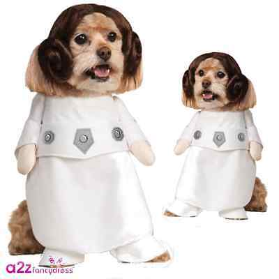 Star Wars Princess Leia Dog Puppy Pet Cosplay Official Novelty Costume