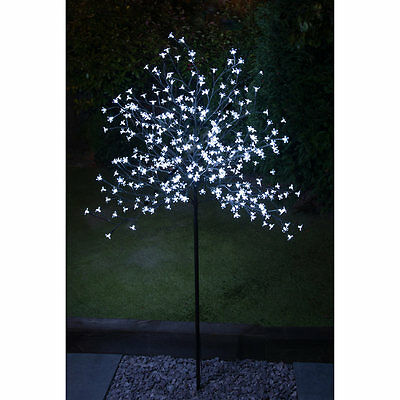 New Outdoor Solar Powered Decorative  352 LED  6ft Blossom Tree