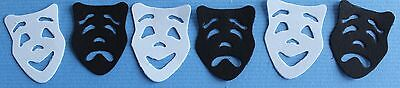 12 Quickutz Drama Comedy Actor Mask Scrapbook Die Cuts -New York Broadway Play!