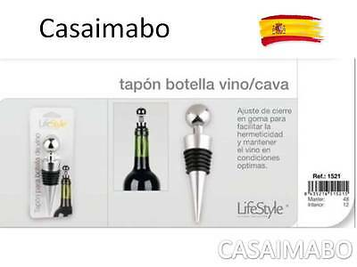 TAPON BOTELLA DE VINO de METAL  -LIFESTYLE-