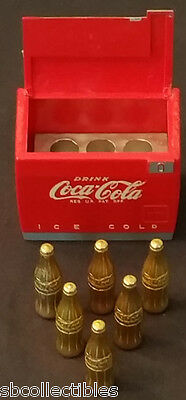 1950's - Coca Cola - Sample Cooler - With 6 Bottles