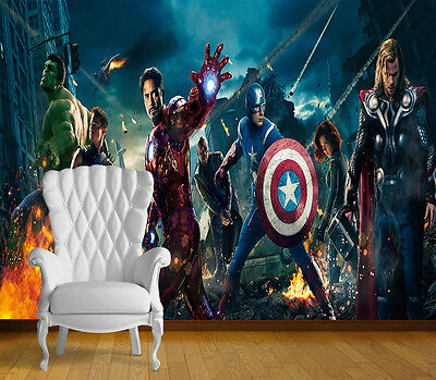 Avengers Super Hero Wall Art Wall Mural Any Size Self Adhesive Vinyl Decal 5
