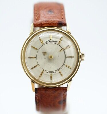Vintage LeCoultre Mystery Dial 14K Yellow Gold Bumper Automatic Men's Watch