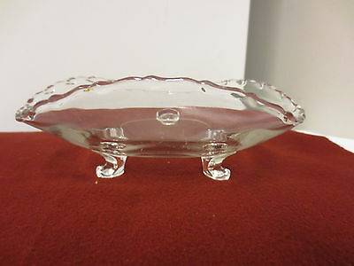Older Fostoria Century 3-Toed Clear Triangular Shape Nut, Candy, Sweets Bowl