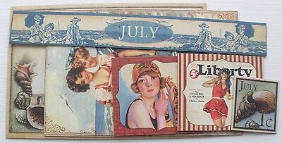 ViNTAGE SUMMER - Graphic 45 Chipboard Die Cuts - Picture Cards - Journal Kit