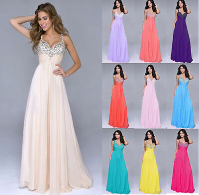 New Formal Long Evening Gown Party Prom Bridesmaid Dress Size 6 -22