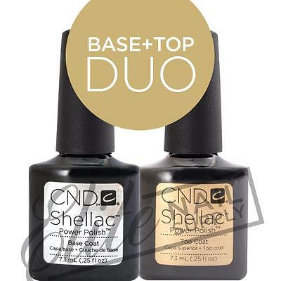 CND SHELLAC Base Coat 7.3ml + Top Coat 7.3ml  + FREE CND Foil Remover Wraps 10ct