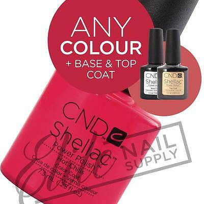 CND SHELLAC UV Color Coat 7.3ml - Any 1 Colour + Base + Top