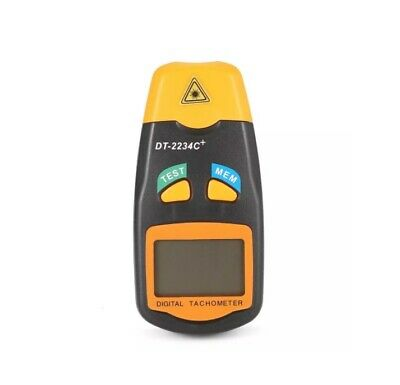 DT2234C + Digital Laser RPM Tachometer Non Contact Measurement Tool Measure