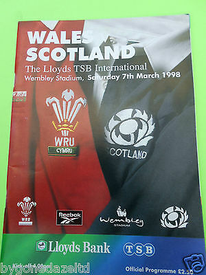 Wales v Scotland 1998 Rugby Programme
