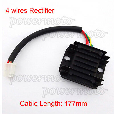12V Voltage Regulator Rectifier 4 wire For GY6 150 200cc 250cc ATV Pit Dirt Bike