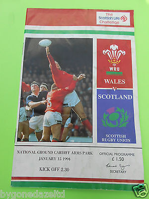 Wales v Scotland 1994 Rugby Programme