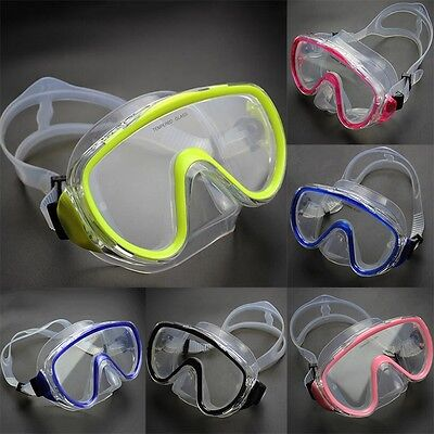 Adults Diving Mask with Breathing Tube Tempered Glass Lenses Swimming ME