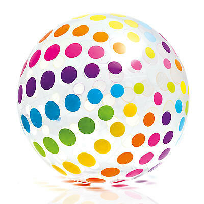 XXL Wasserball aufblasbar Beach Ball Strandball Wasser Pool Party 107cm Dots