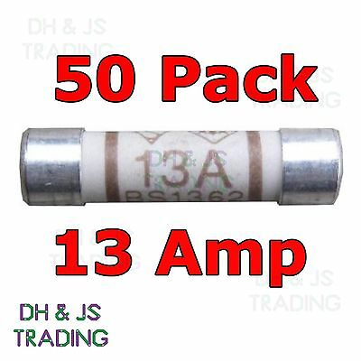 50x 13a Domestic Fuses Plug Top Household Mains 13amp Cartridge Fuse