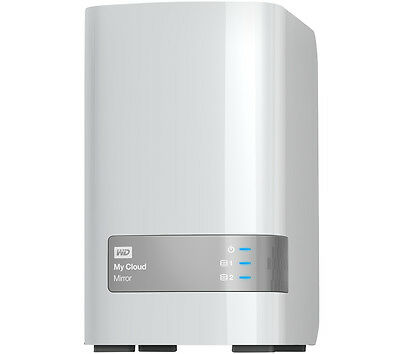 WD My Cloud Mirror Personal Cloud Storage, 4TB Dual Bay NAS, Automatic backup