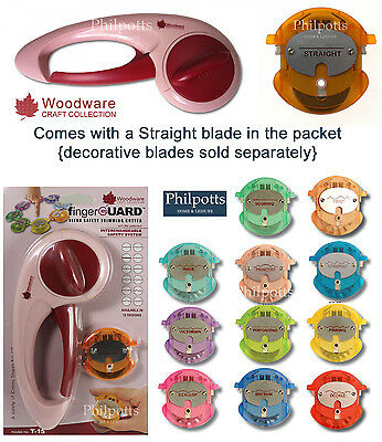 Woodware FingerGuard Rotary HAND TRIMMER T-15, Replacement Blades for T15 & T200