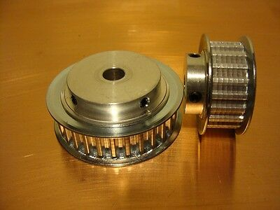 T5 Timing Pulley 10mm wide tapped with grubscrews 12 teeth with 6.35mm bore