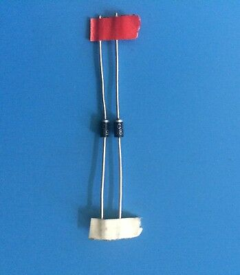 2x 1N5819 MICRO SEMICONDUCTOR DIODE SCHOTTKY 40V 1A DO41 IN5819 2/UNITS
