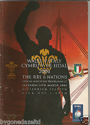 Wales v Italy 2006 The RBS 6 Nations Rugby Programme