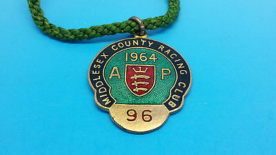 Alexandra Park (Middlesex County Racing Club) Horse Racing Members Badge - 1964
