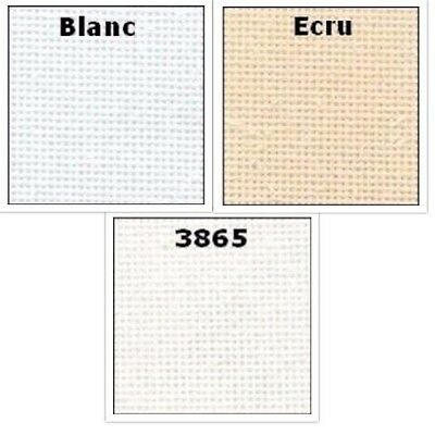 DMC 28 Count Evenweave Cross Stitch Embroidery Fabric 8 Sizes Ecru White or 3865