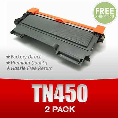 2pk TN450 Compatible Toner Cartridge For Brother Hl-2220 2240 2270dw Mfc-7360n