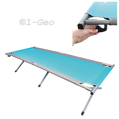 Sturdy XXL Camp cot with adjustable 2-Gear Sunbathing area Uquip 244202 NEW