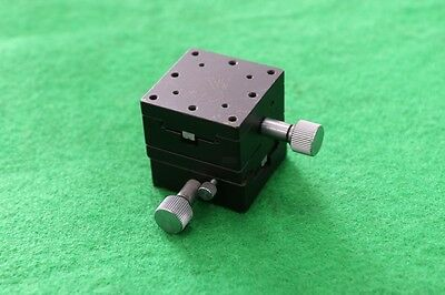 Used XY Axis Rack And Pinion Dovetail Stage (25mm X 25mm X 20mm) Stroke 10mm
