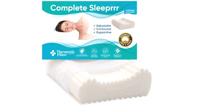 New - Therapeutic & Chiropractic Neck Support Pillow Memory Foam Bed Pillows