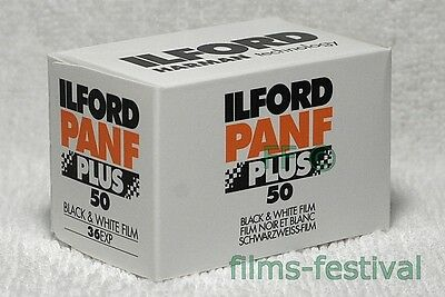 5 rolls ILFORD PANF 50 35mm 36exp black and white Film 135-36