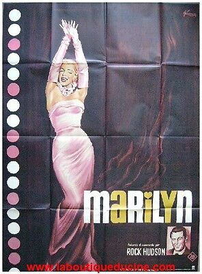 MARILYN MONROE Affiche Cinéma ORIGINALE 160x120 Movie Poster  ROCK HUDSON