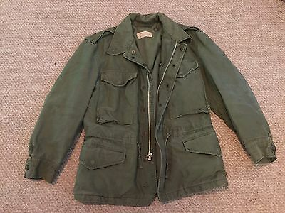 Authentic vintage GREEN Army MILITARY JACKET AIRSOFT PAINTBALL size XS