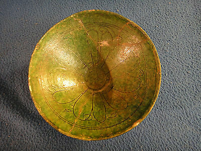 Ancient Pottery Bowl 14th Century Persian Sultane Sultanabad Bowl Ponthier