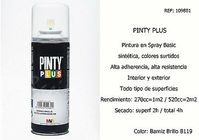 Pack 4 Spray Pintura Barniz Brillo