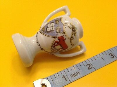 Arms Of UNIVERSITY City OF OXFORD Crested China Urn Souvenir Vintage