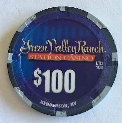 $100 Green Valley Ranch 1st Issue 2002 Mint Only 100 Made Las Vegas CASINO CHIP