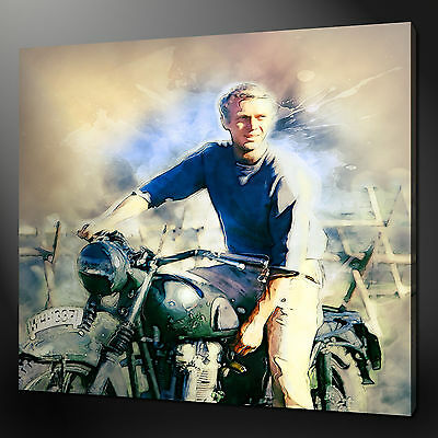 Steve Mcqueen Great Escape Canvas Wall Art Print Picture Variety Of Sizes