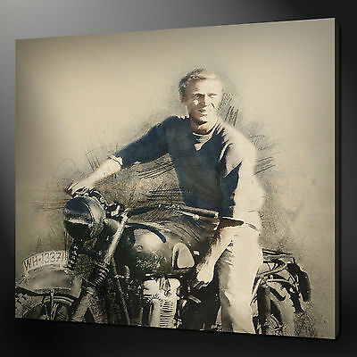 Steve Mcqueen Great Escape Canvas Print Picture Variety Of Sizes Fast Delivery