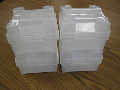 Lot of 4 -- Entegris/PH9100/UltraPak (Mixed) 4-inch Wafer Carriers Containers