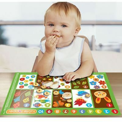 Children toddler kids High Chair table top tray Stick On Eating Place Mats 20 ct