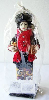 THAI Hill Tribe Doll YAO or MIEN ~ Standing Traditional Handmade Collectible NEW
