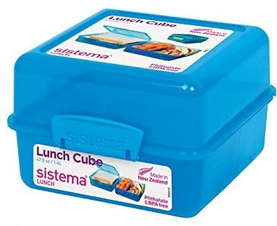 Sistema Lunch Cube Lunch Box With Three Compartments - 1.4 L - Blue