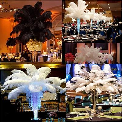 Wholesale 10-2000pcs High Quality Natural Ostrich Feathers 10-12inches / 25-30cm