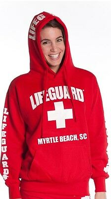 Lifeguard Sweatshirt Red With Myrtle Beach, SC
