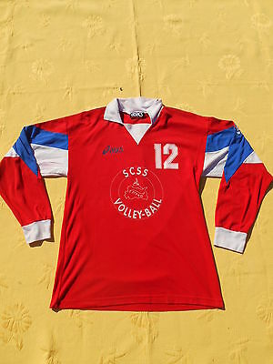 ASICS Maillot Jersey Camiseta Porté Worn True Vintage Made in Italy Volleyball