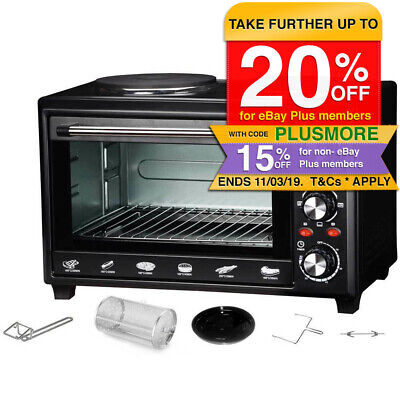 Maxim MOHP28R 28L Portable Electric Oven/Hot Plate Cooktop/Rotisserie