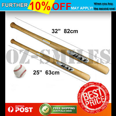 "32"" 82CM 25"" 63CM Wooden Baseball Bat Outdoor Sports Racket Softball"