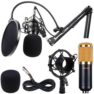 BM800 Pro Condenser Microphone Kit Shock Mount Home Studio Audio Sound Record N