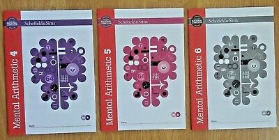 Mental Arithmetic 4,5 & 6 by Schofield & Sims (Pack of 3)
